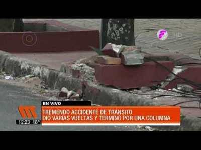 Impresionante accidente de tránsito en Asunción