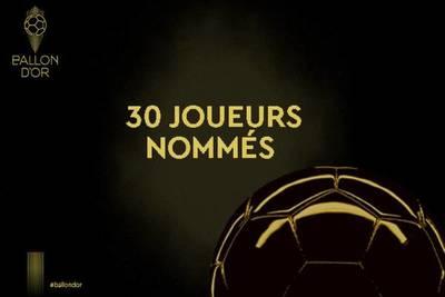 Están los 30 nominados al Balón de Oro 2019