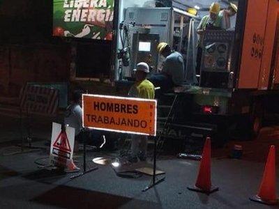 Calles de Asunción intervenidas por obras de alcantarillado