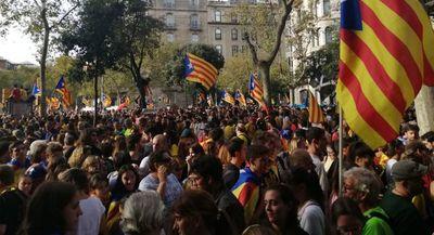 Continúan las protestas independentistas en Barcelona