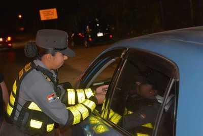 Caminera sacó de circulación a 334 conductores alcoholizados