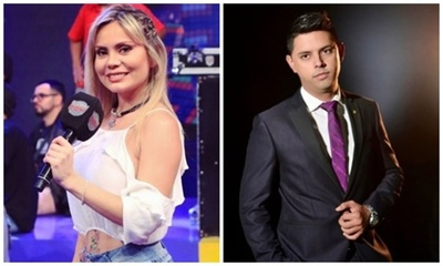 Dahiana Bresanovich y Ale López a los besos
