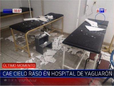 Parte del cielorraso del hospital de Yaguarón cae en zona de Urgencias