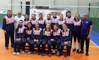 Selección U16 de voley femenino viajó a sede del Sudamericano