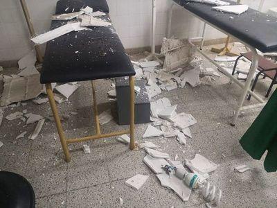 Cayó parte del cielorraso de Urgencias del Centro de Salud de Yaguarón