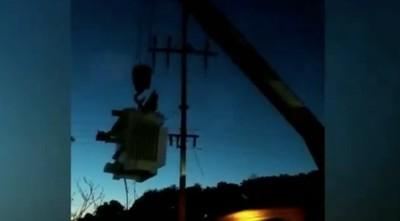 Robaron transformadores de la ANDE que estaban en pleno uso