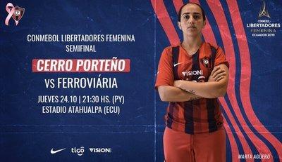 Cerro Porteño disputa esta noche la semifinal de la Libertadores Femenina