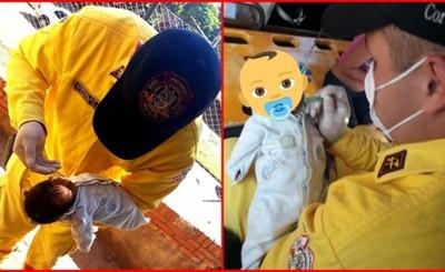 Bebé se salva gracias a rápida intervención de los Bomberos