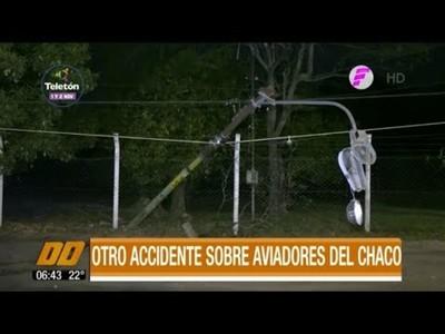 Otro accidente sobre Aviadores del Chaco