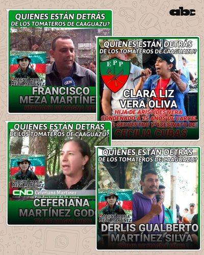 Gobierno difundió flyers sobre presuntos epepistas entre campesinos movilizados