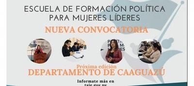 Inscripciones abiertas para 7ª Edición de Escuela de Formación Política para Mujeres Líderes de Caaguazú