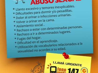 Indicadores que evidencian posibles casos de abuso infantil