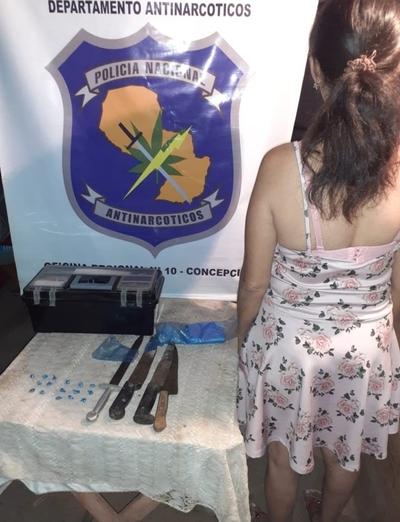Detienen a mujer con crack en Concepción