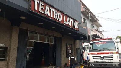 Principio de incendio en el Teatro Latino