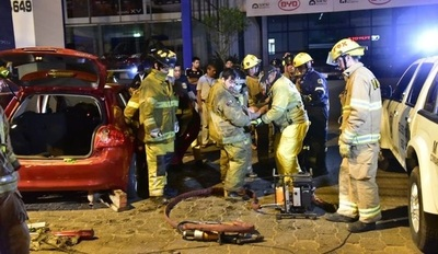 Tres jóvenes heridos en accidente de tránsito