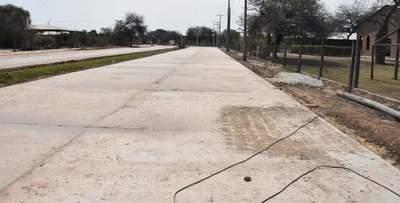 Pavimentación de acceso a Terminal de Ómnibus de Mariscal a punto de culminar