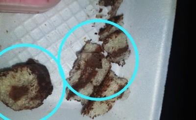 Denuncian repartija de tortas con vidrios en su interior