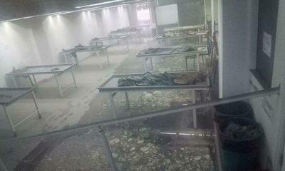 Voraz incendio consume parte de la morgue de la UPE