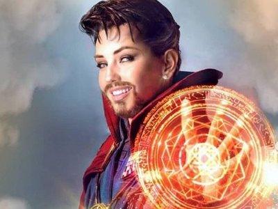 Thalía sorprende a sus fans con un realista disfraz de Doctor Strange