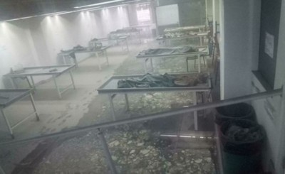 Incendio consume morgue de universidad privada