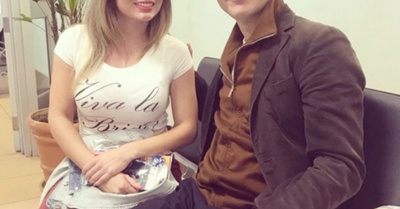 Dahiana Bresanovich, con un famoso actor