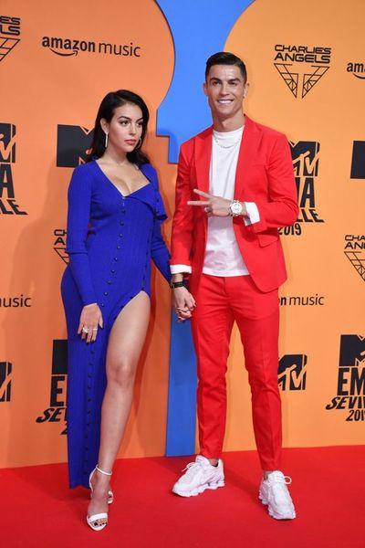 Cristiano Ronaldo, en la alfombra roja de los EMAs de la MTV 2019