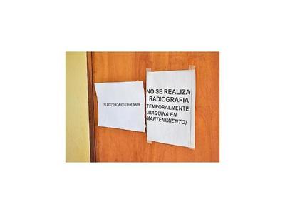 Centro de Salud de Paso Yobái sin rayos X   hace 2 años