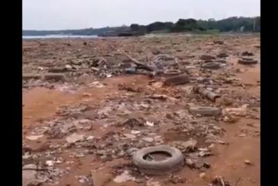 Calamitoso estado del río Paraguay