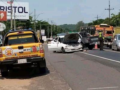 Suman los accidentes en la zona del  cerro Caacupé
