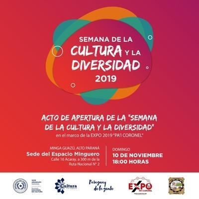 En Asunción e interior del país se hará la Semana de la Cultura y la Diversidad