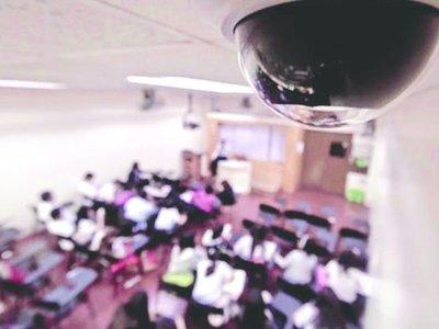 Colegios usan cámaras para ver si los alumnos copian