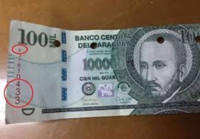 Policia Nacional advierte sobre la circulación de billetes falsos de G. 50.000 y G. 100.000