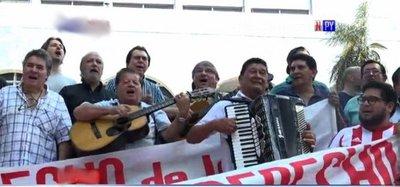 Artistas paraguayos protestan