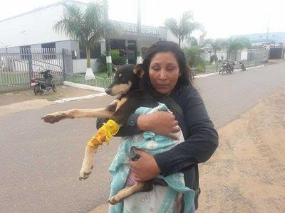 Con garrote le rompió la patita a un perro
