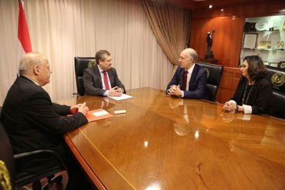 Ministros de la Corte recibieron al Secretario General de la COMJIB