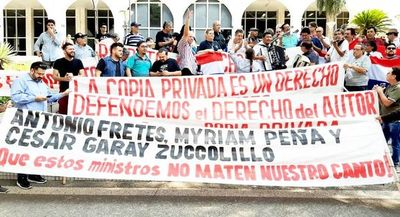 Músicos protestan contra resolución de la Corte