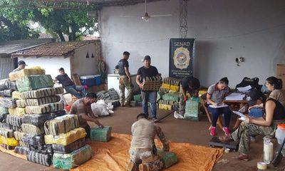 Incautaron cerca de cuatro toneladas de marihuana en zona de Itapúa