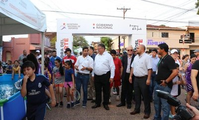 "La ""Cuadra del Deporte"" arrancó en Caaguazú"