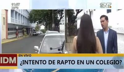 Denuncian intento de rapto de una niña en su escuela
