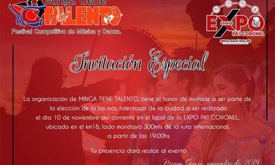 """Invitan al """"Festival Competitivo de Música y Danza"""" en Minga Guazú"""