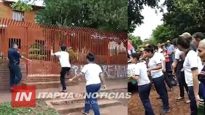 M. OTAÑO: INCIDENTES ENTRE MANIFESTANTES Y LA POLICÍA NACIONAL