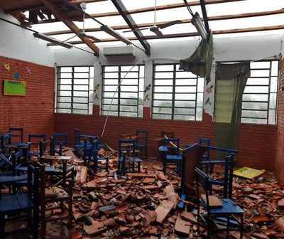 Tormenta causó destrozos en Central