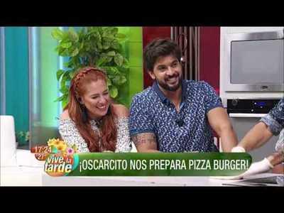 Pizza Burger en la cocina de Vive la Tarde