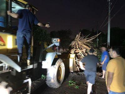 Heridos, árboles caídos, casas destechadas y hasta una pileta volando en Villa Elisa