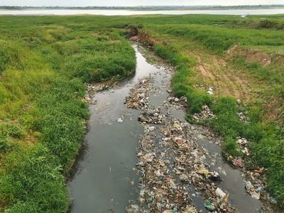 Siguen sacando toneladas de basura del río