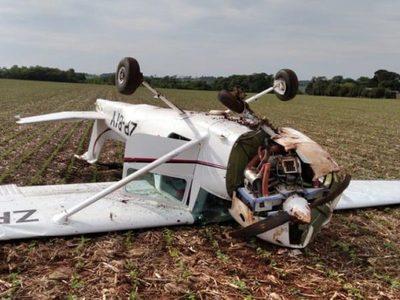 Avioneta se precipitó durante el despegue
