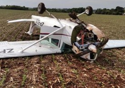 Avioneta usada para prácticas se desploma