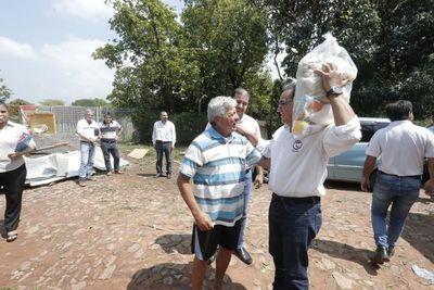 Gobernador de Central brinda asistencia ante emergencia climática