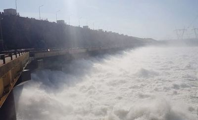 Afluencia de caudal atípicamente baja en hidroeléctrica Yacyreta