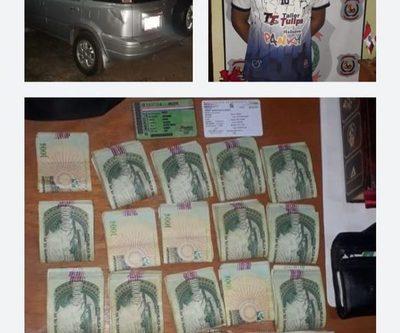 Detienen a hombre con cocaína en Pdte. Franco